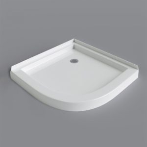 Mirolin Sorrento Neo Round 42×42 Shower Base White