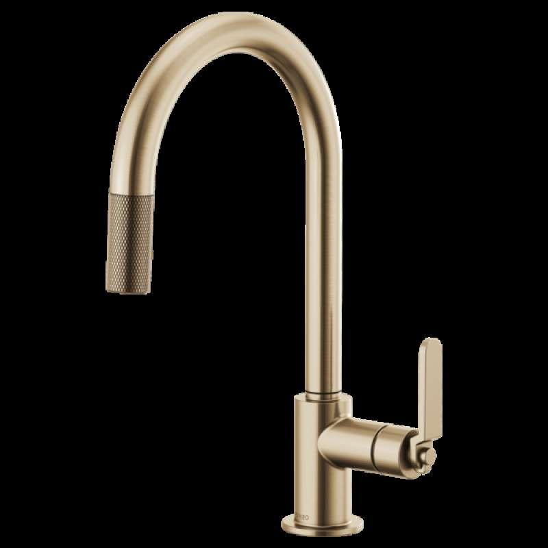 Brizo Litze Single Handle Kitchen Faucet with Pulldown Spout ...