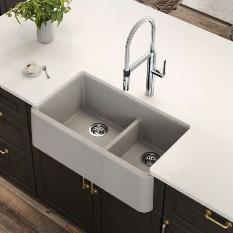 Blanco Ikon Apron Front Low Divide Kitchen Sink - Waterflo